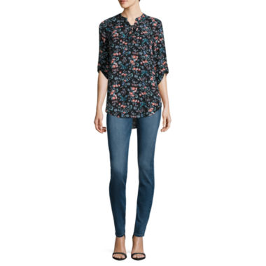 jcpenney.com | Decree Lace Up Woven Top or Jeggings - Juniors