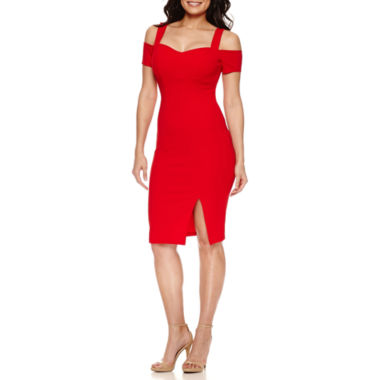 jcpenney.com | Bisou Bisou Short Sleeve Bodycon Dress