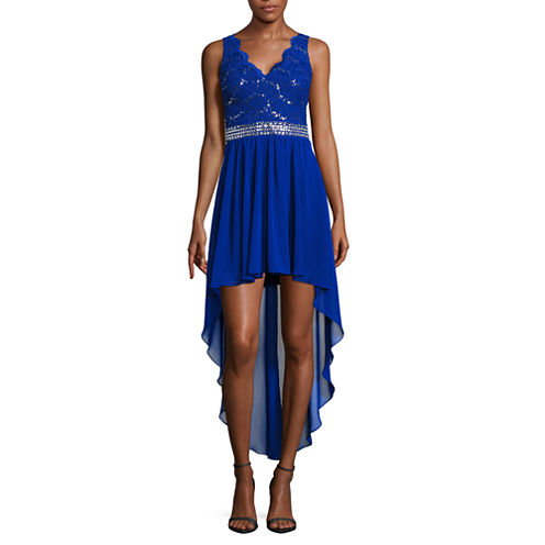 B. Darlin Sleeveless Applique Party Dress-Juniors