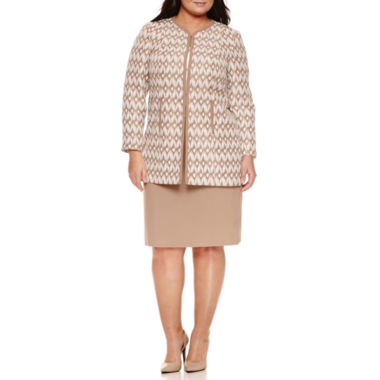 jcpenney.com | Isabella Long Sleeve 2-pc. Skirt Set-Plus