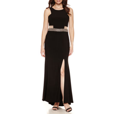 jcpenney.com | Scarlett Illusion Inset Bead Trim Sleeveless Evening Gown