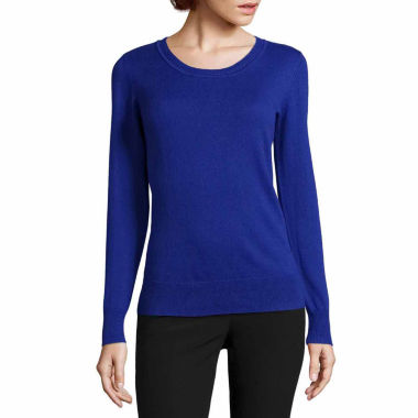 jcpenney.com | Worthington® Long-Sleeve Essential Crewneck Sweater - Tall