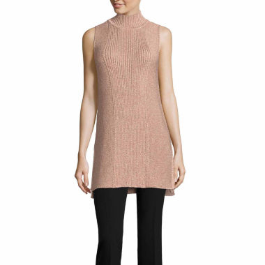 jcpenney.com | Worthington Sleeveless Mock Neck Pullover Sweater-Talls
