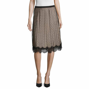 jcpenney.com | Worthington Lace Trim Pleated Skirt