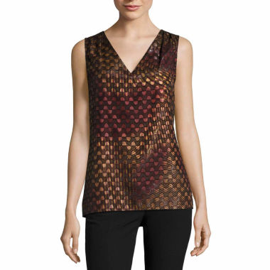 jcpenney.com | Worthington Pleated Shoulder Shell