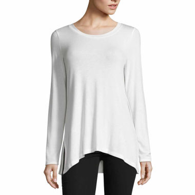 jcpenney.com | Liz Claiborne Long Sleeve Scoop Neck Tunic Top-Talls
