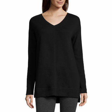 jcpenney.com | Liz Claiborne Long Sleeve Tunic Top Talls