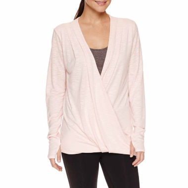 jcpenney.com | Xersion Long Sleeve Studio Wrap Tee-Talls