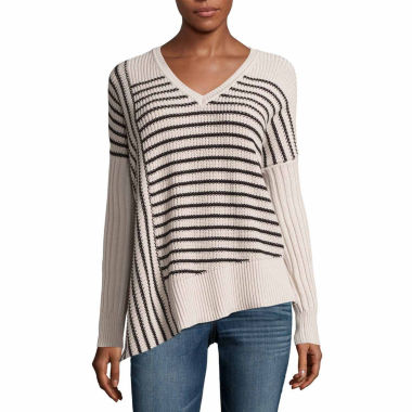 jcpenney.com | A.N.A Assymetrical Stripe Pullover Sweater-Talls