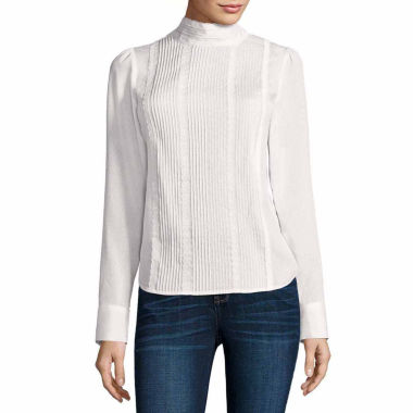 jcpenney.com | A.N.A Victorian Lace Blouse-Talls