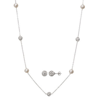 jcpenney.com | Womens 2-pc. White Pearl Sterling Silver Jewelry Set