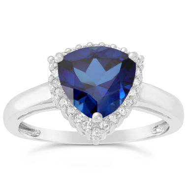jcpenney.com | Womens Blue Sapphire Sterling Silver Halo Ring
