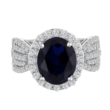 jcpenney.com | Womens Blue Sapphire Sterling Silver Cocktail Ring
