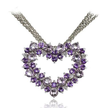 jcpenney.com | Fine Jewelery Womens 18 Inch Purple Amethyst Sterling Silver Link Necklace