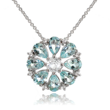 jcpenney.com | Fine Jewelery Womens 18 Inch Blue Topaz Sterling Silver Link Necklace