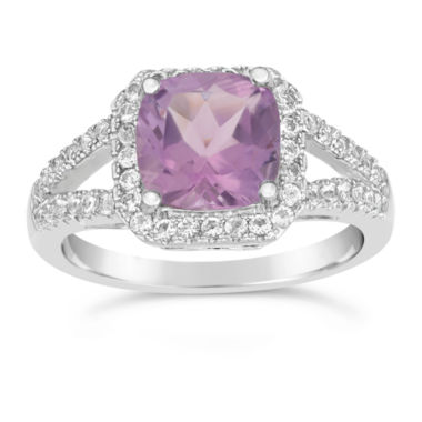 jcpenney.com | Womens Purple Amethyst Sterling Silver Cocktail Ring