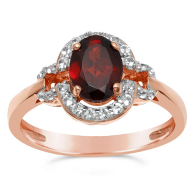 jcpenney.com | Womens Red Garnet Halo Ring