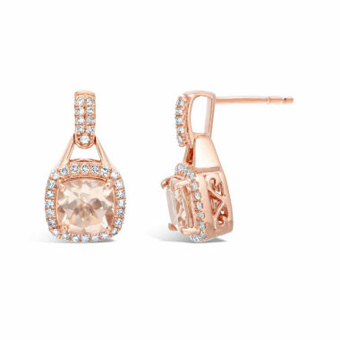 jcpenney.com | 1/3 CT. T.W. Champagne Morganite 10K Gold Drop Earrings