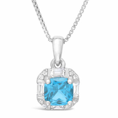 jcpenney.com | Womens Blue Topaz Sterling Silver Pendant Necklace