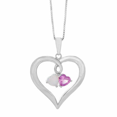 jcpenney.com | Womens White Opal Sterling Silver Pendant Necklace