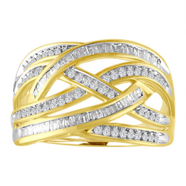 jcpenney.com | Womens 1/2 CT. T.W. White Diamond 10K Gold Cocktail Ring
