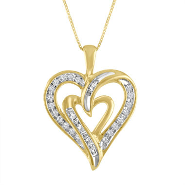 jcpenney.com | Womens 1/5 CT. T.W. White Diamond 10K Gold Pendant Necklace