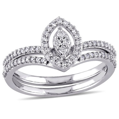 jcpenney.com | Womens 1/3 CT. T.W. White Diamond 10K Gold Bridal Set
