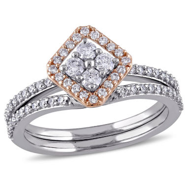 jcpenney.com | Womens 5/8 CT. T.W. White Diamond 14K Gold Bridal Set