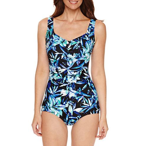 Le Cove Floral Girl Leg One Piece Swimsuit