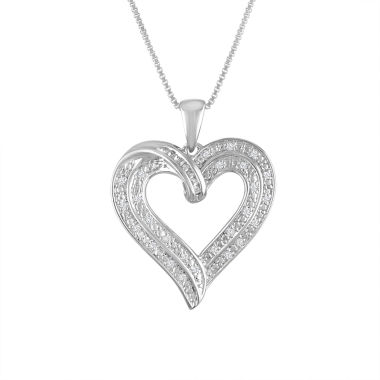 jcpenney.com | Womens 1/10 CT. T.W. White Diamond Sterling Silver Pendant Necklace