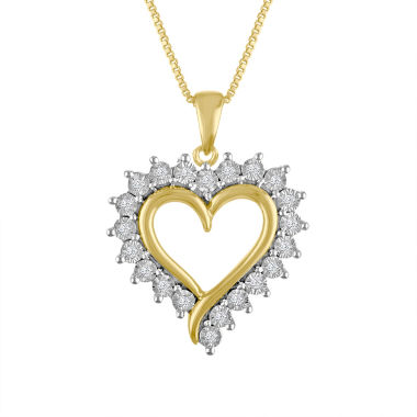 jcpenney.com | Womens 1/10 CT. T.W. White Diamond 14K Gold Over Silver Pendant Necklace