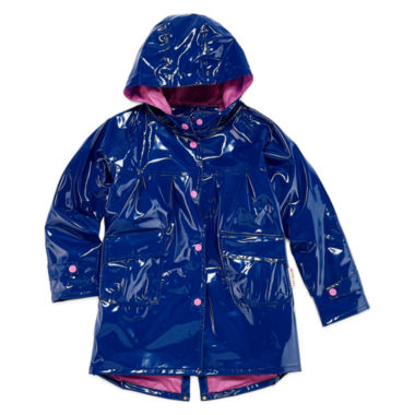 jcpenney.com | Pink Platinum Girls Hooded Shiny Raincoat