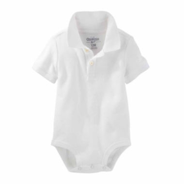 jcpenney.com | Oshkosh White Polo Bodysuit - Baby