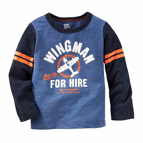 Oshkosh Boys Long Sleeve Wing Man T-Shirt-Toddler