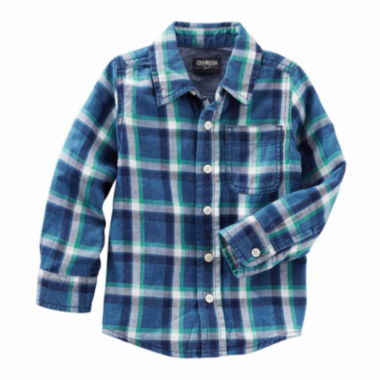 jcpenney.com | Oshkosh Long Sleeve Button-Front Shirt Boys