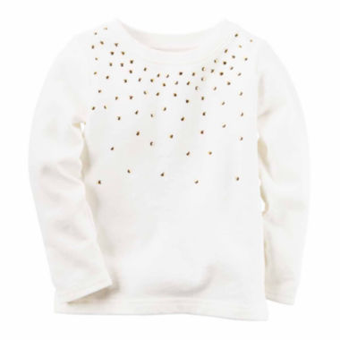 jcpenney.com | Carter's Girls Long Sleeve T-Shirt-Toddler