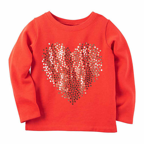 Carter's Long Sleeve T-Shirt-Preschool Girls