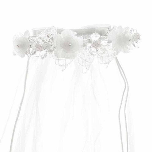 Keepsake Floral Crystal Communion Veil