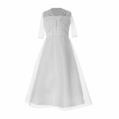 jcpenney.com | KeepsakeHaddad Empire Waist Dress With Tulle Jacket- Big Kid
