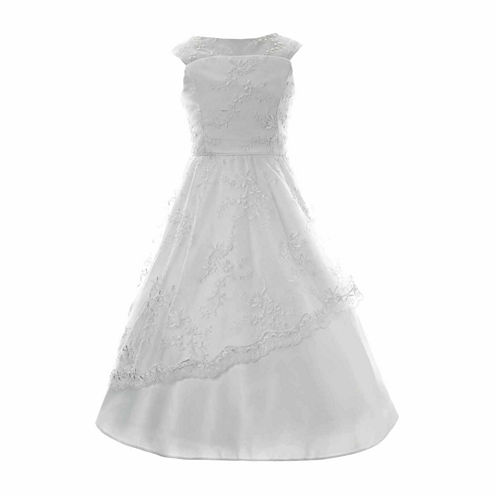 Keepsake Embroidered Communion Dress- Girls' 6X-14 and Plus
