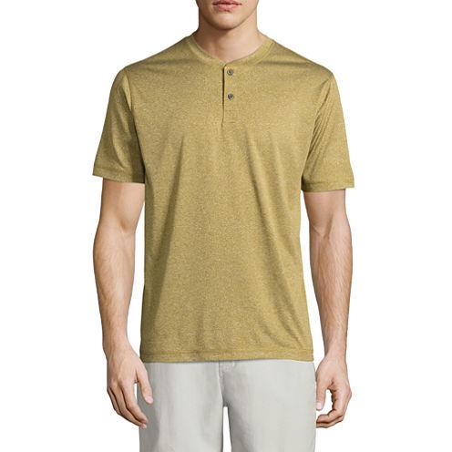 St. John's Bay Terra Tek Short Sleeve Henley Shirt