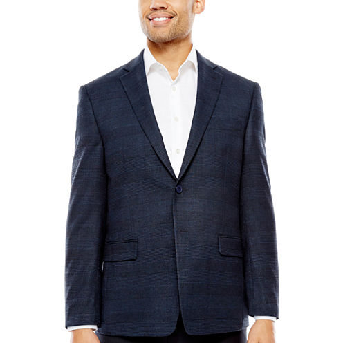 Collection by Michael Strahan Navy Check Sport Coat-Classic Fit