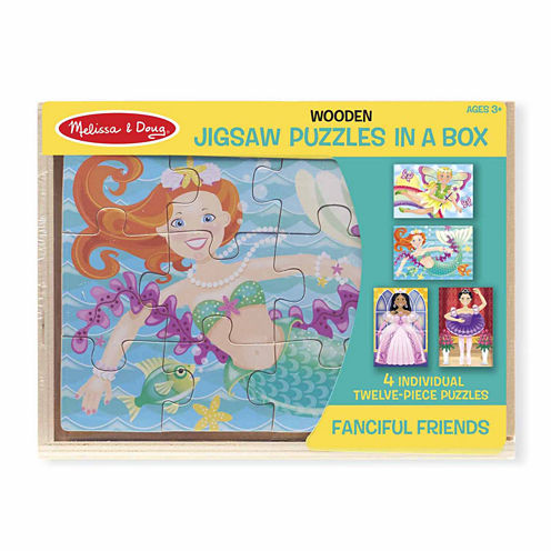 Melissa & Doug® Fanciful Friends Puzzles in a Box