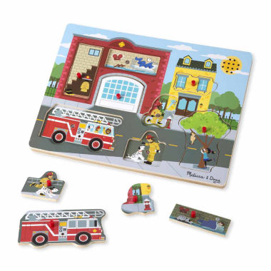 jcpenney.com | Melissa & Doug Around the Fire Station Sound Puzzle