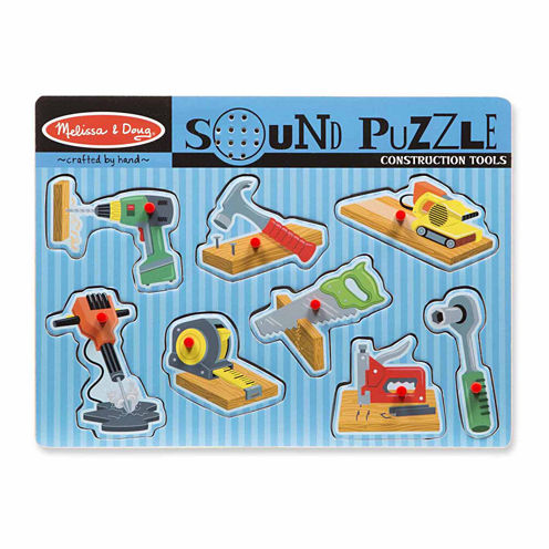 Melissa & Doug® Construction Tools Sound Puzzle