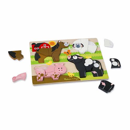 Melissa & Doug® Chunky Jigsaw Puzzle - Farm Animals