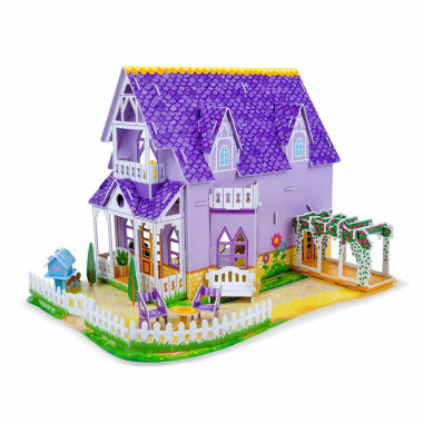 jcpenney.com | Melissa & Doug Pretty Purple Dollhouse 3D Puzzle