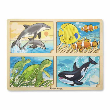 jcpenney.com | Melissa & Doug 4-in-1 Sea Life Jigsaw Puzzle