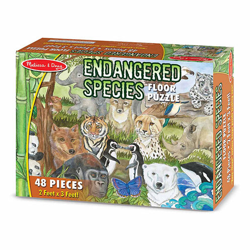 Melissa & Doug Endangered Species Floor Puzzle - 48 pc.