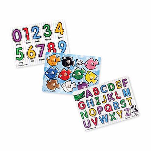 Melissa & Doug® Classic Peg Puzzle Bundle (3 Puzzle Bundle)